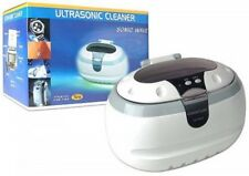 Sonic Wave Ultrasonic Jewelry Cleaner Cleaning Machine, White/Gray, CD-2800, New