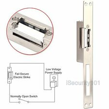 Electric Strike Door Lock 12V NO Fail Security Long Narrow-type European Style