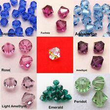 10 Genuine 6MM SWAROVSKI Crystal 5301 5328 BICONE Xilion BEADS ~Assorted Color~