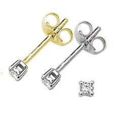 Pendientes de joyería con diamantes en oro diamante