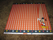 Scrapbooking Crafts 12 X 12 Paper Disney Mickey Mouse Red Peeking Behind Curtain