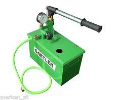 Befüllpumpe GARTLER, 40 bar mit Behälter Handpumpe Solarpumpe Testpumpe Heizung