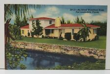 Ft Lauderdale Fl An Island Waterfront Home   Postcard C10