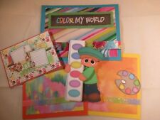 COLOR MY WORLD  3D PAPER PIECING SCRAPBOOK PAGE MAT SET