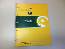 John Deere 550 Manure Spreader Operator'S Manual Part #: Omw40643