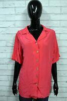 Camicia 100% Seta Donna LUISA SPAGNOLI 48 Maglia Blusa Shirt Woman Manica Corta