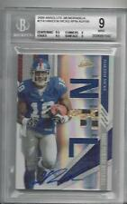 HAKEEM NICKS 2009 ABSOLUTE RPM TRIPLE JERSEY BALL PATCH AUTO RC #D 57/199 BGS 9