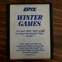 Winter Games ( Atari 2600 ) Cartridge Only - NTSC -U/C -Tested & Working
