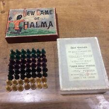 The New Game of Halma Box of Playing Pieces c1900 - John Jaques & Son London