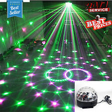 LED Crystal Magic Ball 6 Colours Disco DJ Stage Equipment Lighting Party NEW