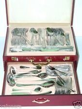 Flatware Set Cutlery Set 84 Pieces with Elegant Wooden Gift Box Set