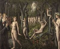 Print -  The Awakening of the Forest 1939  by Paul Delvaux