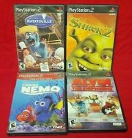 Disney Ratatouille Chipmunks Shrek Nemo  PS2 Playstation 2 COMPLETE Game Lot