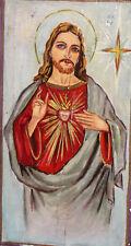 Orthodox Tempera On Wood Hand Painted Icon Jesus Christ
