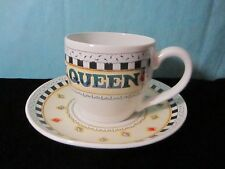 Me Ink Mary Engelbreit Tea Cup & Saucer Its Good To Be Queen 6x3.5""