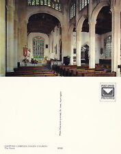 1980's THE NAVE PARISH CHURCH CHIPPING CAMPDEN GLOUCESTERSHIRE COLOUR POSTCARD