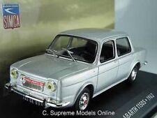 63 SIMCA Abarth 1150s 1/43rd Size Silver Model Car Dark Interior Type Y0675j *