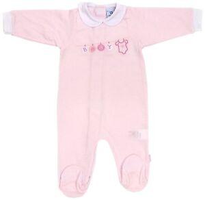 Luxury Pink Baby Tencel applique All-in-One Babygrow Sleepsuit Newborn Cambrass