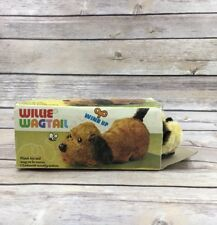 1970s Vintage Windup Toy Willie Wagtail Dog Made in Hong Kong Animal Toy