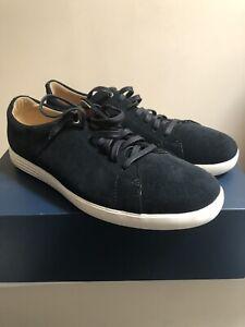Cole Haan Mens Grand Crosscourt II Sneakers Black Suede Low Top Shoes Sz 11.5 M