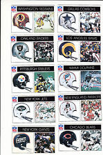 1976 Popsicle Football Lot of 10 Different RARE