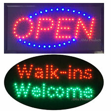 Walk-ins Welcome Beauty Hair Nails Salon LED & Open Business Store Sign neon