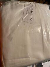 Parachute Sateen Flat Sheet White Full/Queen
