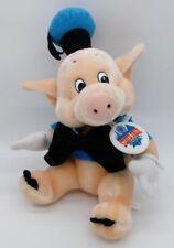 Vintage Disneyland Fiddler Pig Plush Disney Three Little Pigs State Fair Tag