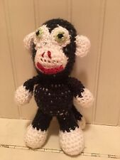 "HANDMADE 8"" Knit CROCHET Stuffed Sock MONKEY PLUSH Amigurumi MAKE OFFERS"