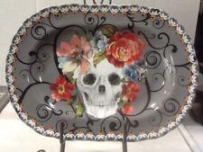 222Fifth Marbella Skull Halloween New Serving Platter