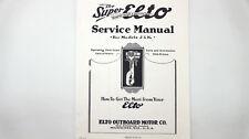 The Super Elto Service Manual for Models J & K w/Parts List