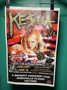 Signed Kesha Concert Poster - Nashville Flood Relief Benefit 2010