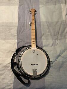 Deering Goodtime Tenor Banjo 5 String With Pickup Strap Electric
