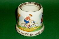 Alter Radfahrer Topf Fahrrad Krüge Rad Bike Dose Kindermotiv 3.Reich 2.Weltkrieg