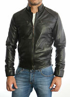 ★Giacca Giubbotto Uomo in di PELLE 100%★ Men Leather Jacket Veste Homme Cuir 3s9
