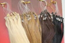 Echthaar Microring / Loop Extensions Remy Haarverlängerung 45cm 50cm 60cm 0,5g