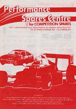 Performance Spares Catalogue Sales 1991 - Jones instruments, Girling, Aeroquip