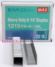 MAX 1215 1000 Staples (1 box) Heavy Stapler 1215 FA-H 23/15 9/16