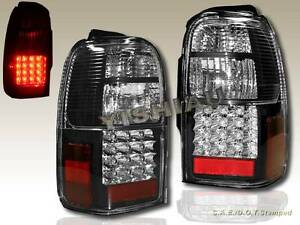 1996-2000 TOYOTA 4RUNNER LED TAIL LIGHTS BLACK