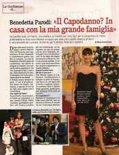 Q33 Clipping-Ritaglio 2012 Benedetta Parodi: Il Capodanno? In casa con la...