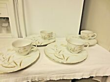 4 Sets (8 pc) Laurel China Sea Breeze Marked Snack Sets-Made in Japan #1266