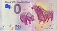 BILLET 0  EURO FRANKFURT BULLE UND BAR   ALLEMAGNE 2018  NUMERO 1000