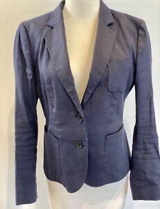Womens Brooks Brothers Navy Blue Blazer Size Au8
