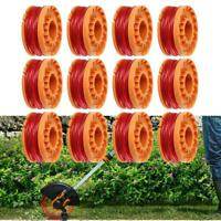 For Worx Spool Line String Trimmer Edger WA0010 WA0007 12/6 Pack Replacement US