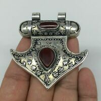"1pc, 2.4""x2.3""x0.5"",Turkmen Pendant Red Carnelian Drop Statement bohemian"