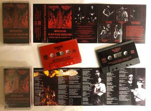 IMPRECATION / BLACK BLOOD INVOCATION - split BLACK TAPE Music Cassette