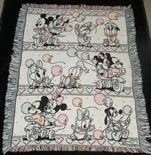 Disney Babies Mickey Mouse Minnie Donald Duck Balloon Tapestry Throw Blanket