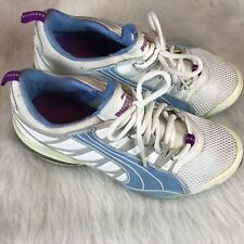 PUMA Voltaic Running Shoes, #184244-13, White/Silver Pull On Women's US 7