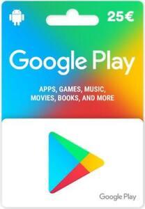 25€ Google Play Store Card Geschenkkarten - 25 Euro Gutschein Key Guthaben Code