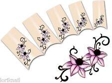 Nail Art Wasser Tattoo Aufkleber für Nageldesign BLE1836 Blumen Ornamente